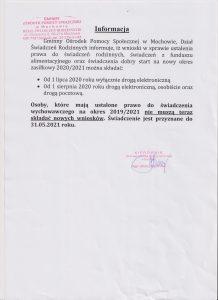 Informacja gops 15.07.2020