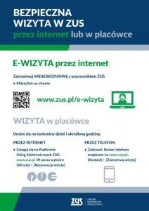 Plakat e-wizyta i rezerwacja