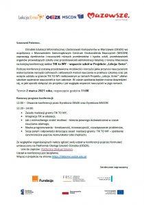 Zaproszenie na konferencję TIKtoMYnr2